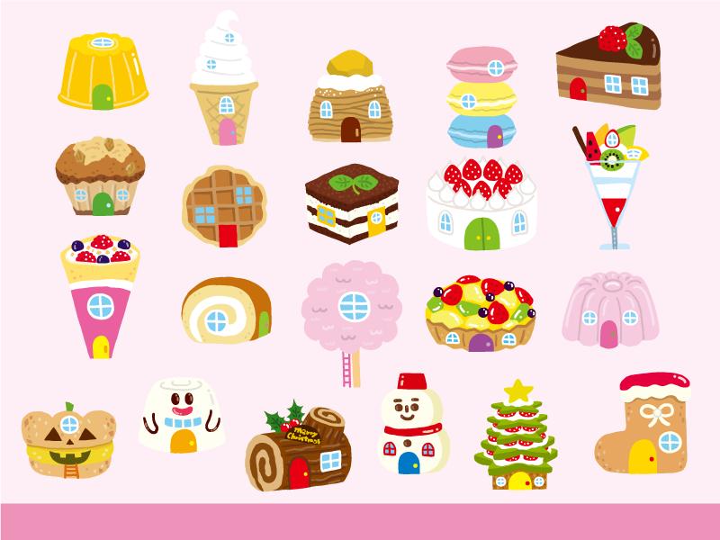 【お菓子・アプリイラスト】<br /> ゆめある『わくわくおばけとおかしのおうち』