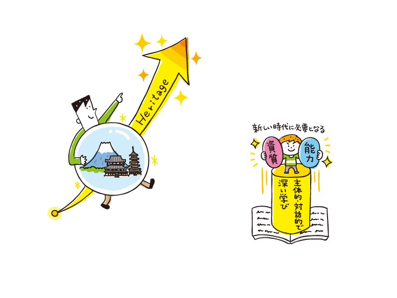 【線画イラスト】日本文教出版『社会科NAVI  Vol.17 』